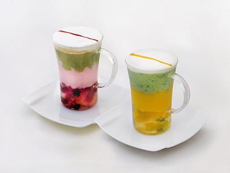 中国茶ジュレとフルーツのデザートスムージー イメージ