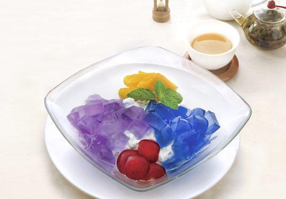 青いココナッツライスプディング イメージ